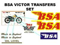 BSA B44 Victor Transfers Decals Set DBSA79 Classic Motorcycle