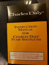 Charles Daly Owners Instruction Manual Pump Shotgun nice full color literature