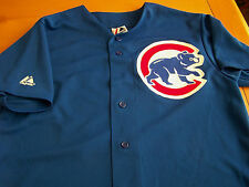 Chicago Cubs Alfonso Soriano  blue Jersey Majestic Stitched Size Medium