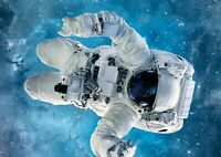 Space Floating Astronaut Poster Print Size A4 / A3 Outer Space Poster Gift #8531