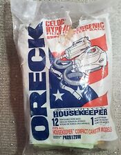 Genuine Oreck Housekeeper Canister 15 New Vacuum Bags AND 1 Motor Filter