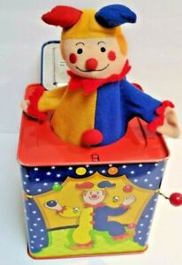 Vintage 1997 Schylling Original Circus Clown Jack In The Box Musical Wind Up Toy