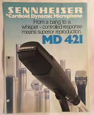 SENNHEISER MD421 mic brochure & price list