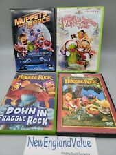Jim Henson DVD lot of 4 Muppets and Fraggle Rock Muppets in Space Christmas