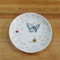 """Lenox Butterfly Meadow Assorted Luncheon Salad Plates 9"""" Set of 4"""