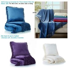 Concierge Soft & Cozy Plush Throw blanket & Pillow Set Reg $50
