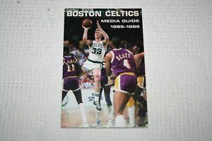1985-1986 Boston Celtics MEDIA GUIDE * Larry Bird cover vs Los Angeles Lakers
