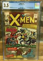 X-Men #9 1965 1st Appearance Lucifer 1st Meeting X-Men/Avengers CGC 3.5