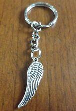 porte clés argenté aile d'ange 30x10mm