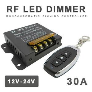DC 12V/24V 30A Led Switch Dimmer + RF Remote Control For Led Strip Single Color