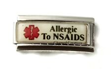 Allergic To NSAIDS Arthritis Caduceus Medical Alert 9mm Italian Charm Superlink