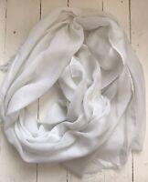 White Soft Pashmina Style Scarf
