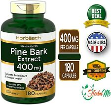 French Maritime Pine Bark Extract 400mg 180 Capsules 95% Proanthocyanidins