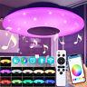 Dimmbar Bluetooth Lautsprecher 60W LED Sternenhimmel Deckenleuchte + Remote APP
