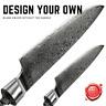 Custom Chef Knives Blank Blade 67 Layers Damascus Steel Kitchen Knife Hobby DIY