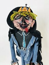 Outside Art Paper Mache Halloween Scarecrow Vampire Goul Man Jack O Lantern