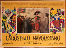 set completo soggettoni film CAROSELLO NAPOLETANO Giannini Loren Rondinella 1954
