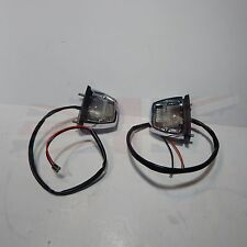 New Pair of License Plate Light Lamp Assemblies Triumph Spitfire 1973-80 Chrome