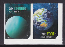 2015 Our Solar System - Pair of Booklet Stamps (Earth & Uranus)