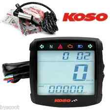 Compteur digital universel KOSO XR-01S neutre essence cligno Scooter Moto 12V