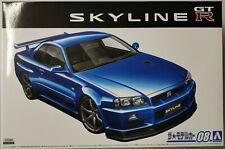 Aoshima Nissan BNR34 Skyline GT-R V-Spec II '02 Plastik Modell Bausatz 2020