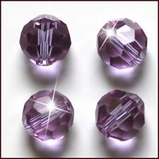 Glass Spacer Beads For Earring Bracelet Diy 100Pc4Mm Light Purple Round Crystal