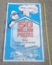 1995 MONOPOLY GAME VINYL BANNER POSTER McDonalds PROMO.STORE WINDOW DISPLAY OLD