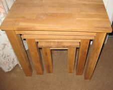 Nest of 3 Coffee tables Solid Oak. Beautiful.