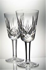 Pair of Signed WATERFORD Lead Crystal LISMORE Cut Sherry Glasses - 80 ml AF