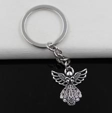 Fashion 1pcs Metal Angel Key Ring Keychain Jewelry Silver Plated