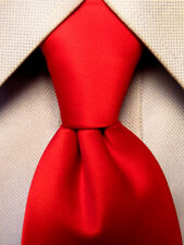 Stacy Adams Solid Red Polyester Tie Hand Made A5149