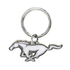 Ford Mustang White Pony Logo Metal Key Chain, Key Charm, Keychain, 2000 to 2018