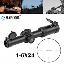 MARCOOL 1-6X24 Rifle Scope IR Tactical Hunting Illuminated Tactical Optics Sight