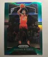 2019-20 Prizm Donovan Mitchell Green Prizm Refractor Card #164 - Utah Jazz