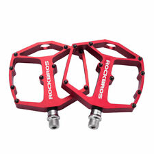 RockBros Bike Bicycle Pedals Hollow Sealed Bearing Aluminum Alloy Pedals Red