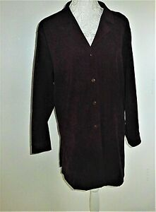 Ladies Country Casuals Suede Effect Jacket- Dark Plum- UK Size Large +-  NEW