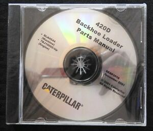 CATERPILLAR 420D BACKHOE LOADER TRACTOR PARTS MANUAL CD SERP 3510 MINT SEALED