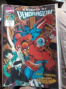 The Knights of Pendragon 2nd series #7 Jan 1993 Marvel Uk Comic  Overkill tales