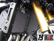 BRUUDT Kühlerabdeckung Schwarz/Silber für Yamaha FZ1 FZ1 Fazer FZ8 FZ8 Fazer