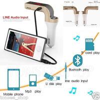 G7 Auto Kit BT FM Sender Handsfree Radio MP3 Player SD USB Charger & AUX