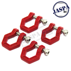 4 x 1/10 Scale Shackles For RC SCX-10 RC Accessories FTX Outback Towing Shackle