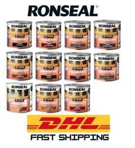 Ronseal 10 Year Woodstain Satin Finish - All Colours - All Sizes