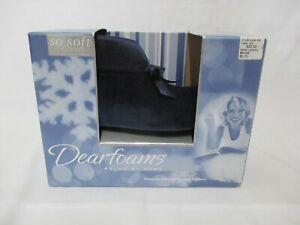 NEW WOMEN'S DEARFOAMS MICROFIBER BOOTIE STYLE SLIPPERS MEDIUM 6.5-7.5 CADET BLUE