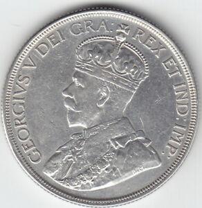 1936 CANADA 1 SILVER DOLLAR ALMOST UNCIRCULATED