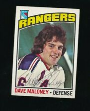 1976-77 Topps #181 Dave Maloney signed autograph Rangers RC Rookie Hockey Card