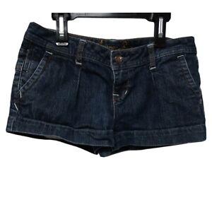 American Rag Cie Women's Juniors Jean Shorts Denim Dark Wash Blue Size 3 Perfect