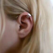 Silver Ear Cuff Clip Earring Punk Rock Clip On ( UK SELLER )