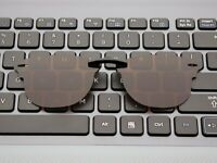 Custom Fit Polarized CLIP-ON Sunglasses For Clubmaster RB5154 49X21 Brown