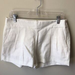 NWT J. Crew Factory cream pleated shorts Women's 6 Linen Cotton Ivory Chino