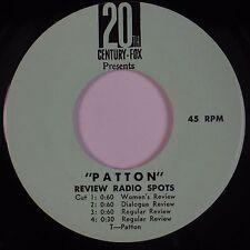 "PATTON: Rare Soundtrack 20th Century Films OST DJ Radio Spots PROMO ONLY 7"" 45"